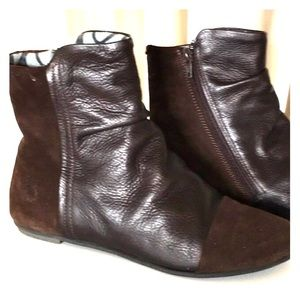 Fly London Brown MOD flat ankle boots booties 38 7